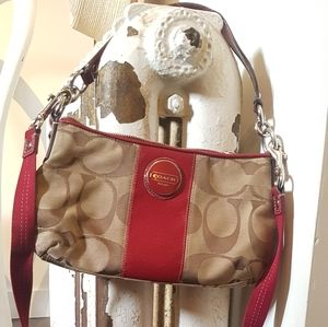 Coach Cherry Red Handbag/Crossbody